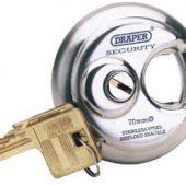 70mm Diameter Stainless Steel Padlock and 2 Keys