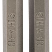 """1.5mm 1/4"""" Hex Hexagonal Insert Bit 50mm Long x 2"""