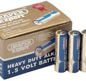 Heavy Duty Alkaline Batteries AA (24-Pack, Shrink Wrapped in Packs of Four)