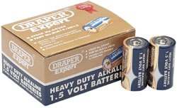 Heavy Duty Alkaline Batteries C (12-Pack, Shrink Wrapped in Packs of Two)