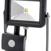10W COB LED Slimline Wall Mounted Floodlight with PIR Sensor - 700 Lumens
