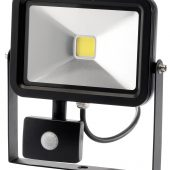 20W COB LED Slimline Wall Mounted Floodlight with PIR Sensor - 1,300 Lumens