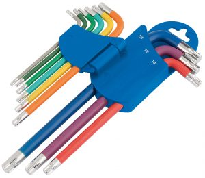 Draper TX-STAR® Metric Coloured Long Arm Key Set (9 Piece)