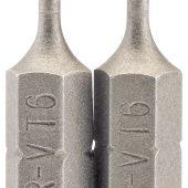 """T6 1/4"""" Hex Draper TX-STAR® Insert Bit 25mm Long x 2"""