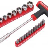 T Handle Driver with socket and Bits Set (22 Piece)