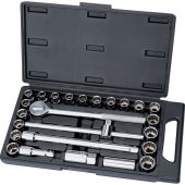 """1/2"""" Sq. Dr. MM/AF Combined Socket Set (25 Piece)"""