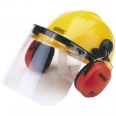 Safety Helmet with Ear Muffs and Visor