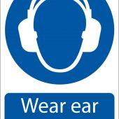 'Ear Protectors' Mandatory Sign
