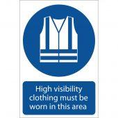 'Hi-Visibility Clothing' Mandatory Sign