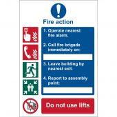 'Fire Action Procedure' Mandatory Sign