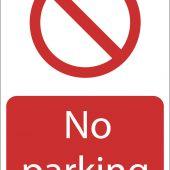 'No Parking' Prohibition Sign