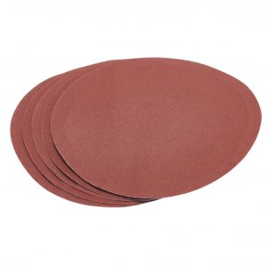 Five 120 Grit Hook and Eye Backed Aluminium Oxide (230mm)