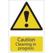 'Caution Cleaning' Hazard Sign
