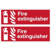 2 x 'Fire Extinguisher' Fire Equipment Sign