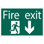 Fire Exit Arrow Down' Safety Sign
