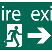 Fire Exit Arrow Right' Safety Sign