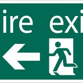 Fire Exit Arrow Left' Safety Sign