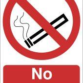 'No Smoking' Prohibition Sign