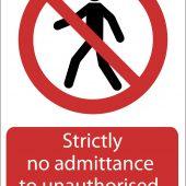 'No Admittance' Prohibition Sign