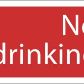 'Not Drinking Water' Prohibition Sign