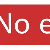 'No Entry' Prohibition Sign