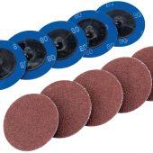 Ten 50mm 80 Grit Aluminium Oxide Sanding Discs