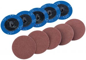 Ten 50mm 120 Grit Aluminium Oxide Sanding Discs
