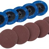 Ten 50mm 240 Grit Aluminium Oxide Sanding Discs