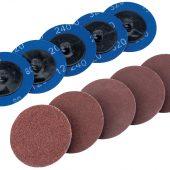 Ten 50mm Assorted Aluminium Oxide Sanding Discs