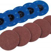 Ten 75mm 80 Grit Aluminium Oxide Sanding Discs