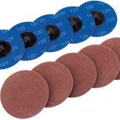 Ten 75mm 120 Grit Aluminium Oxide Sanding Discs