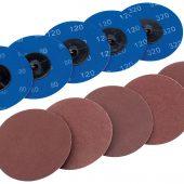 Ten 75mm Assorted Aluminium Oxide Sanding Discs
