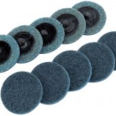 Ten 50mm Polycarbide Abrasive Pads (Fine)