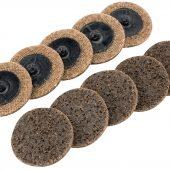 Ten 50mm Polycarbide Abrasive Pads (Course)
