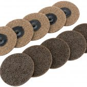 Ten 75mm Polycarbide Abrasive Pads (Course)