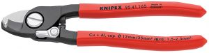 Knipex 95 41 165SBE 165mm Copper or Aluminium Only Cable Shear with Sprung Handles