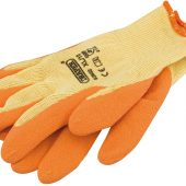 Heavy Duty Latex Coated Work Gloves, Extra Large, Orange