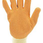 Pack of Ten, Orange Heavy Duty Latex Coated Work Gloves - ExtraLarge