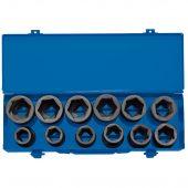 "3/4"" Sq. Dr. Combined MM/AF Impact Socket Set in Metal Case (12 Piece)"
