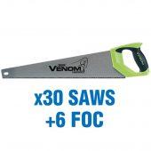 First Fix Draper Venom® Double Ground 500mm Handsaws (added value pack 30 saws + 6 foc)