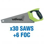 First Fi x Draper Venom® Double Ground 350mm Tool Box Saws (added value pack 30 saws + 6 foc)