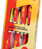 VDE Approved Fully Insulated Screwdriver Set (7 Piece)