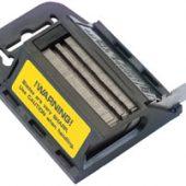 Dispenser of 100 Two Notch Trimming Knife/Window Scraper Blades