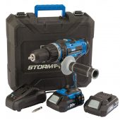 Draper Storm Force® 20V Combi Drill with 2 x 2.0Ah batteries and charger