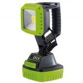 10W COB LED Rechargeable Work Light - 1,000 Lumens (Green, 4x 2.2 Ah Li-ion Batteries Supplied)