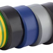 Insulation Tape, 10m x 19mm, Mixed Colours (Pack of 6)
