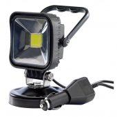 10W 12V COB LED Magnetic Base Work Light - 600 Lumens