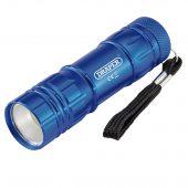 COB LED Aluminium Hand Torch ( 3 x AAA Batteries Supplied)
