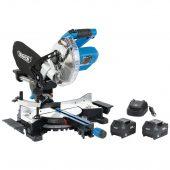 D20 20V Brushless 185mm Sliding Compound Mitre Saw Kit (+2 x 5Ah Batteries and 12V Charger)