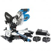 D20 20V Brushless 185mm Sliding Compound Mitre Saw Kit (+2 x 5Ah Batteries and Charger)